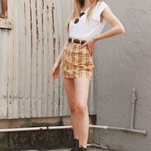 BB Dakota Skirts - BB DAKOTA PLAID SKIRT